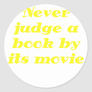 Never Judge a Book by its Movie Stickers