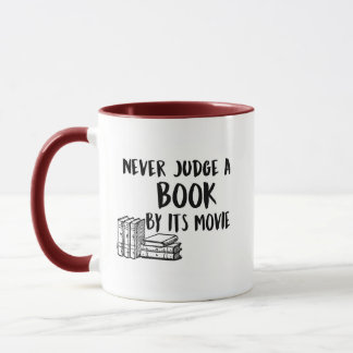 Never Judge a book Mug