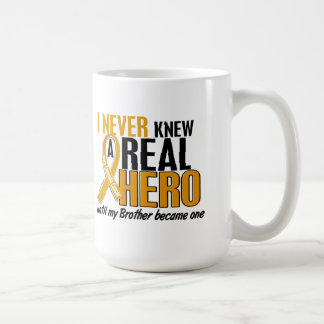 Never Knew a Hero 2 Brother Appendix Cancer Coffee Mugs