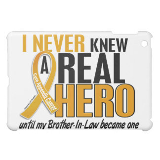 Never Knew a Hero 2 Brother-In-Law Appendix Cancer iPad Mini Case