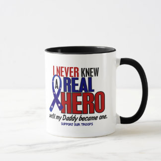 Never Knew A Hero 2 Daddy (Support Our Troops) Mug