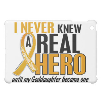 Never Knew a Hero 2 Goddaughter Appendix Cancer iPad Mini Covers