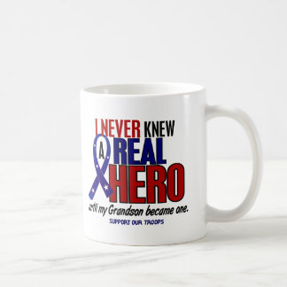 Never Knew A Hero 2 Grandson (Support Our Troops) Coffee Mug