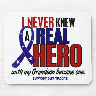 Never Knew A Hero 2 Grandson (Support Our Troops) Mouse Mat