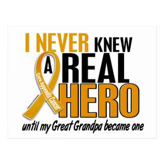 Never Knew a Hero 2 Great Grandpa Appendix Cancer Postcard