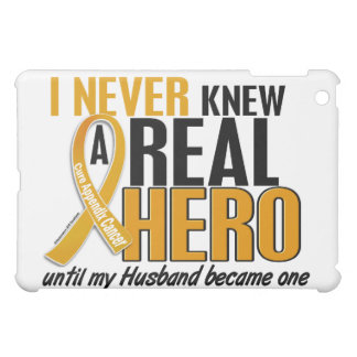 Never Knew a Hero 2 Husband Appendix Cancer Cover For The iPad Mini