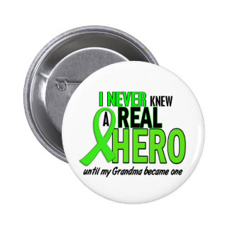Never Knew A Hero 2 LIME GREEN (Grandma) 6 Cm Round Badge