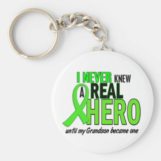 Never Knew A Hero 2 LIME GREEN (Grandson) Key Ring