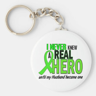 Never Knew A Hero 2 LIME GREEN (Husband) Key Ring