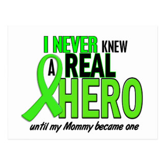 Never Knew A Hero 2 LIME GREEN (Mommy) Postcard