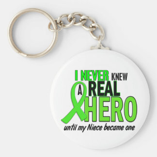 Never Knew A Hero 2 LIME GREEN (Niece) Key Ring