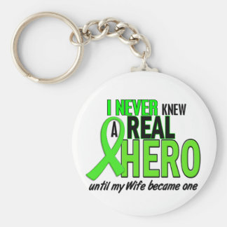 Never Knew A Hero 2 LIME GREEN (Wife) Key Ring