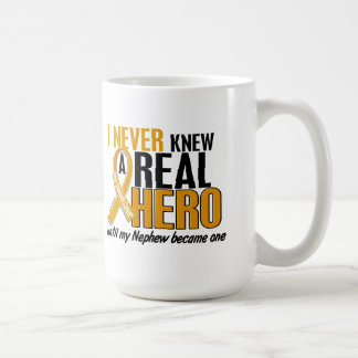 Never Knew a Hero 2 Nephew Appendix Cancer Mug