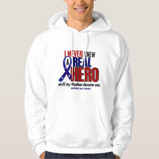 Never Knew A Hero 2 Nephew (Support Our Troops) Hoodie