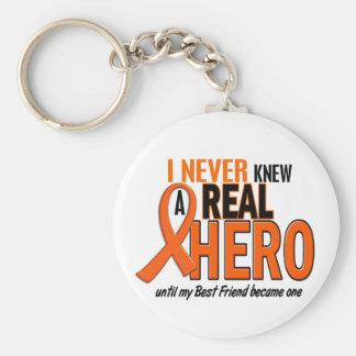 Never Knew A Hero 2 ORANGE (Best Friend) Basic Round Button Key Ring