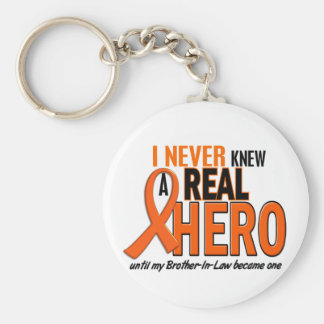 Never Knew A Hero 2 ORANGE (Brother-In-Law) Basic Round Button Key Ring