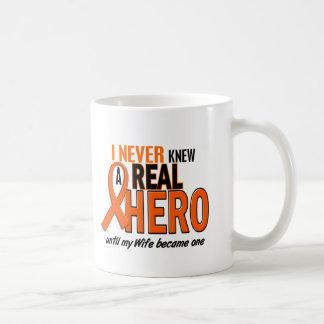 Never Knew A Hero 2 ORANGE (Wife) Basic White Mug