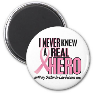 Never Knew A Hero 2 PINK (Sister-In-Law) 6 Cm Round Magnet