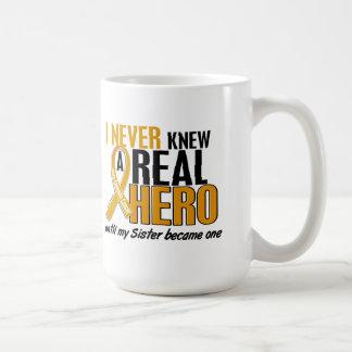 Never Knew a Hero 2 Sister Appendix Cancer Mugs