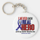 Never Knew A Hero 2 Sister (Support Our Troops) Key Ring