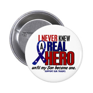 Never Knew A Hero 2 Son (Support Our Troops) Buttons