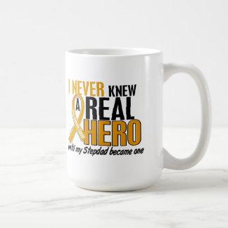 Never Knew a Hero 2 Stepdad Appendix Cancer Coffee Mug