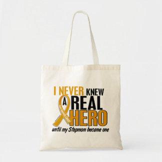 Never Knew a Hero 2 Stepmom Appendix Cancer Budget Tote Bag