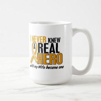 Never Knew a Hero 2 Wife Appendix Cancer Mugs