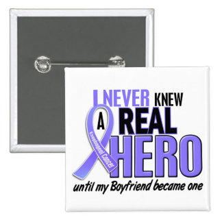 Never Knew A Hero Boyfriend Esophageal Cancer Buttons