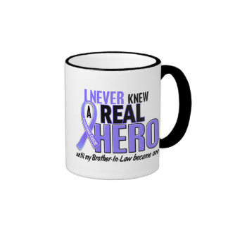 Never Knew A Hero Brother-In-Law Esophageal Cancer Ringer Coffee Mug