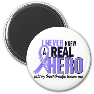 Never Knew A Hero Great Grandpa Esophageal Cancer 6 Cm Round Magnet