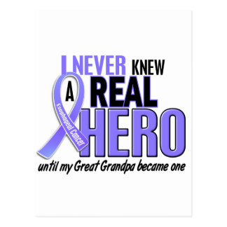 Never Knew A Hero Great Grandpa Esophageal Cancer Postcard