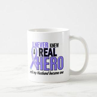 Never Knew A Hero Husband Esophageal Cancer Coffee Mug