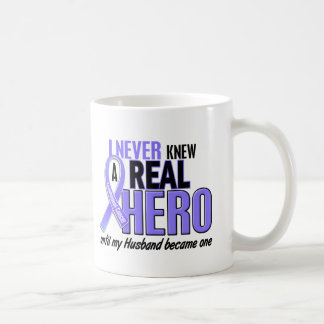 Never Knew A Hero Husband Esophageal Cancer Classic White Coffee Mug