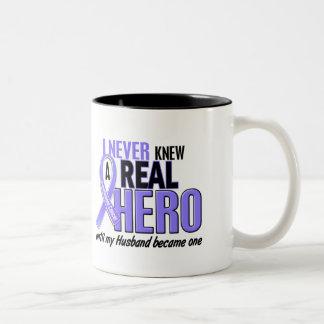 Never Knew A Hero Husband Esophageal Cancer Two-Tone Mug
