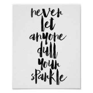 Never Let Anyone Dull Your Sparkle Poster