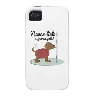 Never Lick A Frozen Pole Vibe iPhone 4 Cover