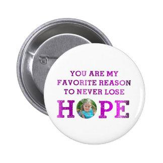Never Lose Hope - Madisyn 6 Cm Round Badge