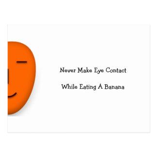 Never Make Eye... - Send a Smile - Funny Postcard