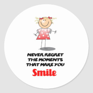Never Regret the Moments Round Sticker