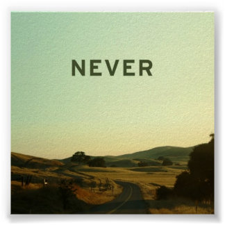 never road poster