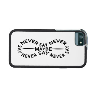 NEVER SAY NEVER custom cases Cover For iPhone 5/5S