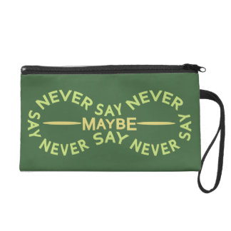 NEVER SAY NEVER custom color accessory bags