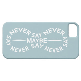 NEVER SAY NEVER custom color iPhone case