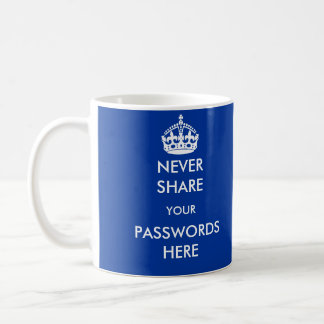 Never Share your Passwords Here Mug
