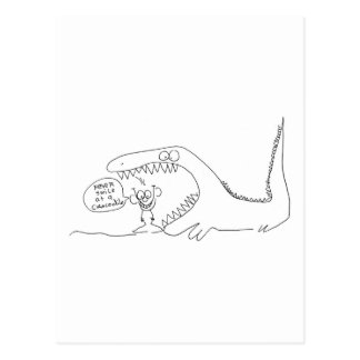 Never Smile at a Crocodile Postcard