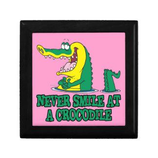 never smile at a crocodile small square gift box