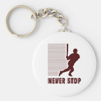 Never Stop: Baseball Key Ring