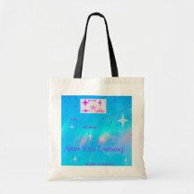 Never Stop Dreaming Aqua Canvas Bags