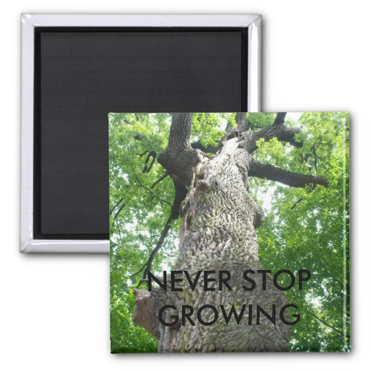 NEVER STOP GROWING MAGNET